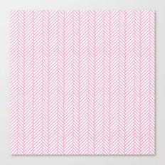 Herringbone Pink Canvas Print