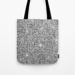 Shiny Disco Ball Silver Tote Bag