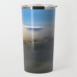 Saltwick Bay as the fog rolls in Travel Mug