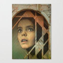 Girl Around Town Canvas Print