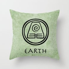 Avatar Last Airbender Elements - Earth Throw Pillow