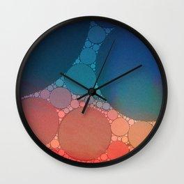 Red Modern Minimal Abstract Wall Clock