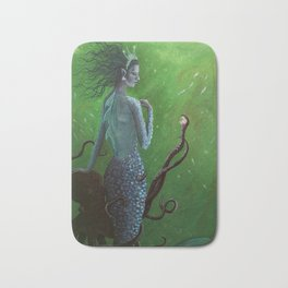 The Mermaid and the Octopus Bath Mat