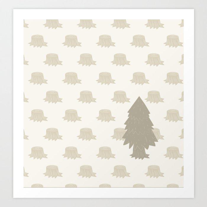 The Last Christmas Tree Art Print