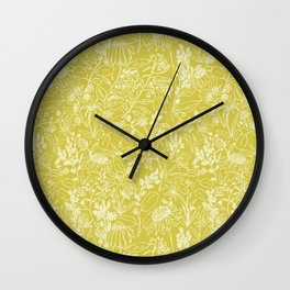 Prairie Path Revisited in Vintage Yellow Wall Clock