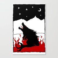 werewolf Canvas Prints featuring Werewolf by FROM THE ABYSS TO THE STARS