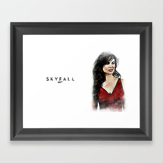 Bond Babe Bernice Marlohe  Framed Art Print