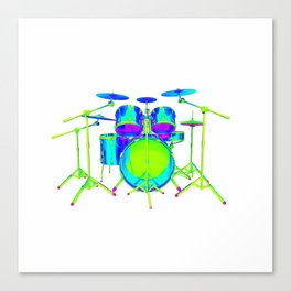 Colorful Drum Kit Canvas Print