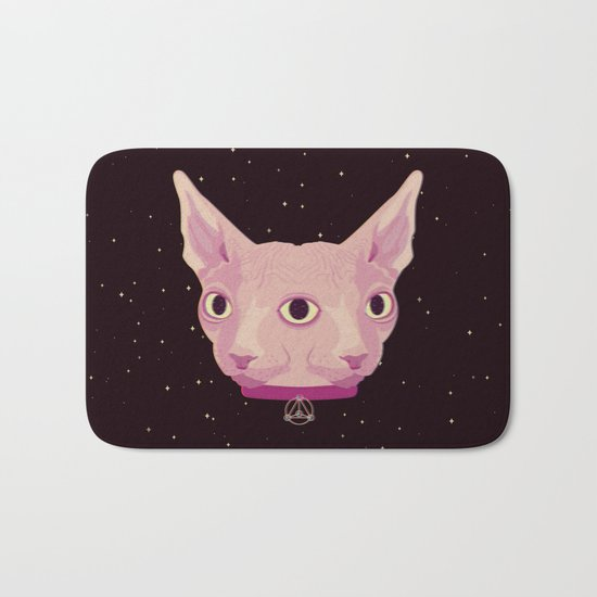 Two-Faced Sphynx From Outer Space Bath Mat