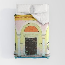 Brisighella: colonnade Comforters
