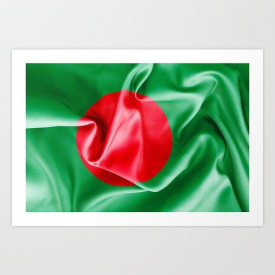 Bangladesh Flag Art Print