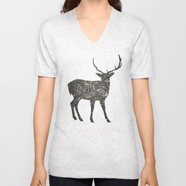 space deer Unisex V-Neck