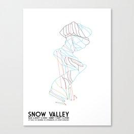 Snow Valley, CA - Minimalist Trail Maps Canvas Print