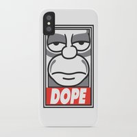 homer iPhone & iPod Cases featuring Dope Homer by MaNia Creations