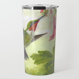 Hummingbird and Columbine Travel Mug