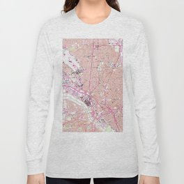 Vintage Map of Dallas Texas (1958) Long Sleeve T-shirt