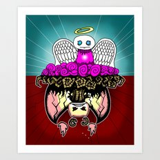 Angel and Demon RonkyTonk Art Print