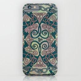 Art Nouveau Greyhounds - Pale Green iPhone Case