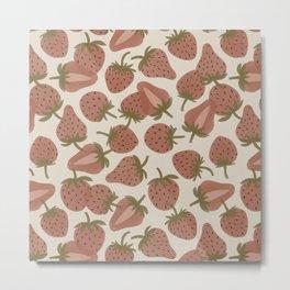 Strawberry Bowl Metal Print