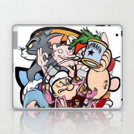 cartoon retro 90s 80s classic print Laptop & iPad Skin