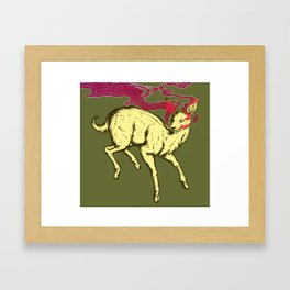 Yellow Deer Framed Art Print