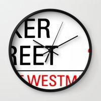 221b Wall Clocks featuring 221B Baker Street by TheWonderlander