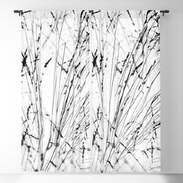 Winter Grasses Blackout Curtain