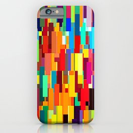 plaid rainbow abstract colorful iPhone Case
