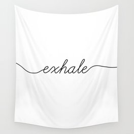 inhale exhale (2 of 2) Wall Tapestry