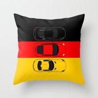 german Throw Pillows featuring German Horsepower by Blayde