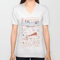 ABSTRACT 2 Unisex V-Neck