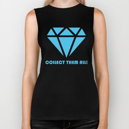 Blue Diamond - Collect Them All! Biker Tank