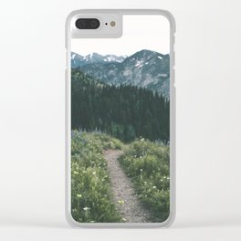 Happy Trails III Clear iPhone Case