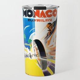 Grand Prix Monaco, 1931, vintage poster Travel Mug