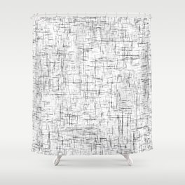 Ambient 77 in B&W 1 Shower Curtain