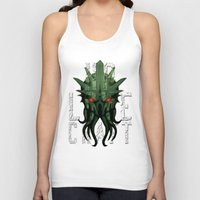 lovecraft Tank Tops featuring H.P. Lovecraft by MikeRush