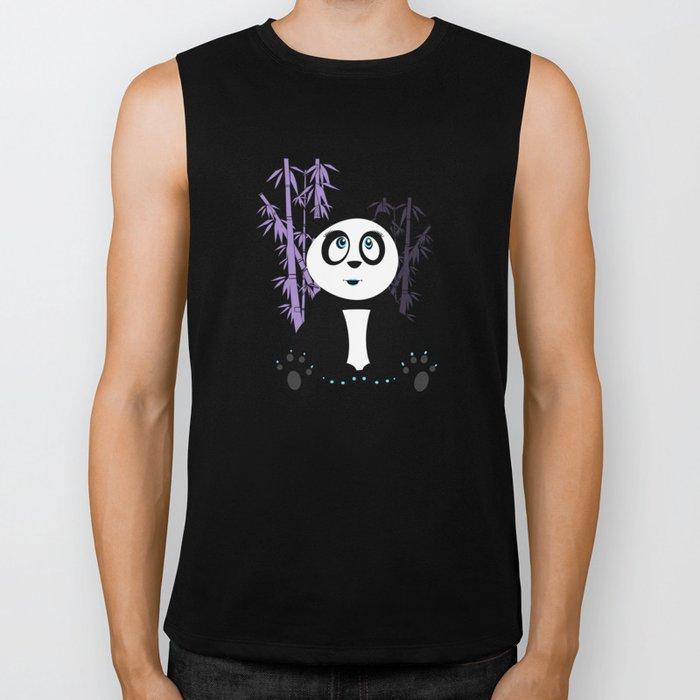 Panda Girl - Purple Biker Tank