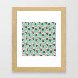 Ice Cream Cones Framed Art Print