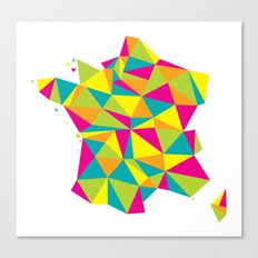 Abstract France Bright Earth Canvas Print