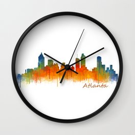 Atlanta City Skyline Hq v2 Wall Clock