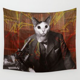 Science Cat Wall Tapestry