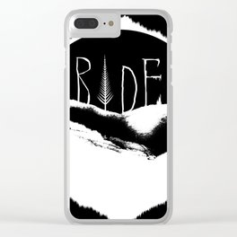 Mountains Ride Clear iPhone Case