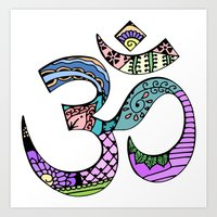 ohm Art Prints featuring Ohm by Ilse S