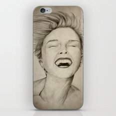 laughing girl iPhone & iPod Skin