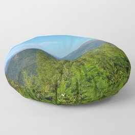 Mountain and trees Floor Pillow