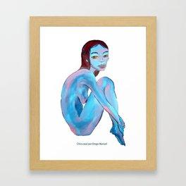 Chica azul por Diego Manuel  Framed Art Print