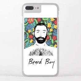 Beard Boy: Miguel Clear iPhone Case