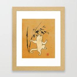 Tai Chi Cat 03 Framed Art Print