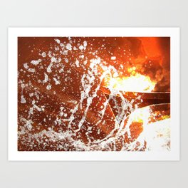 Water and Boarders Art Print