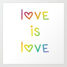 Love Is Love Rainbow Ombre Art Print